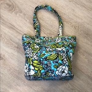 Vera Bradley tote bag teal grey green